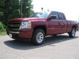 2007 Sport Red Metallic Chevrolet Silverado 1500 LT Extended Cab 4x4 #32682950