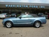 2006 Windveil Blue Metallic Ford Mustang V6 Premium Convertible #32682624