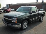 2003 Dark Green Metallic Chevrolet Silverado 1500 LS Regular Cab #32683023
