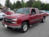 2006 Sport Red Metallic Chevrolet Silverado 1500 LT Extended Cab 4x4 #32683027