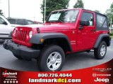 2010 Flame Red Jeep Wrangler Sport 4x4 #32682187