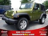 2010 Rescue Green Metallic Jeep Wrangler Sport 4x4 #32682190