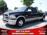 2010 Brilliant Black Crystal Pearl Dodge Ram 3500 Laramie Crew Cab Dually #32682223