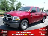 2010 Inferno Red Crystal Pearl Dodge Ram 1500 ST Quad Cab #32682226