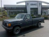Dark Shadow Blue Metallic Ford F150 in 1989