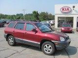 2004 Merlot Red Hyundai Santa Fe GLS 4WD #32682787