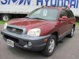 2004 Merlot Red Hyundai Santa Fe LX 4WD #32683191