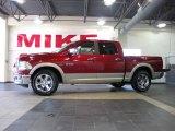 2010 Inferno Red Crystal Pearl Dodge Ram 1500 Laramie Crew Cab #32682390