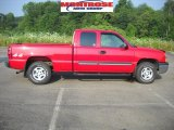 2004 Victory Red Chevrolet Silverado 1500 LS Extended Cab 4x4 #32682903