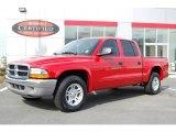 2004 Flame Red Dodge Dakota SLT Quad Cab #3273684