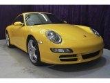 2007 Speed Yellow Porsche 911 Carrera Coupe #32682464