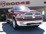 2010 Inferno Red Crystal Pearl Dodge Ram 1500 Laramie Crew Cab 4x4 #32808465