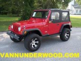 1997 Jeep Wrangler Flame Red