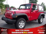2010 Flame Red Jeep Wrangler Sport 4x4 #32855917