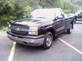 2004 Black Chevrolet Silverado 1500 LS Regular Cab 4x4 #32855746