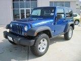 2010 Deep Water Blue Pearl Jeep Wrangler Rubicon 4x4 #32856182