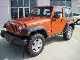 2010 Mango Tango Pearl Jeep Wrangler Rubicon 4x4 #32856183