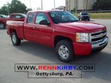 2010 Victory Red Chevrolet Silverado 1500 LT Extended Cab 4x4 #32856202