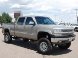 2002 Light Pewter Metallic Chevrolet Silverado 1500 LT Crew Cab 4x4 #32855767