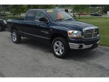 2006 Patriot Blue Pearl Dodge Ram 1500 SLT Quad Cab 4x4 #32856299