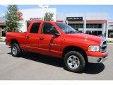 2005 Flame Red Dodge Ram 1500 SLT Quad Cab 4x4 #32898154