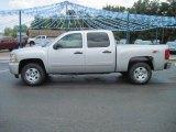 2010 Sheer Silver Metallic Chevrolet Silverado 1500 LT Crew Cab 4x4 #32898899