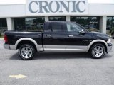 2010 Brilliant Black Crystal Pearl Dodge Ram 1500 Laramie Crew Cab 4x4 #32898469