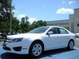 2010 White Platinum Tri-coat Metallic Ford Fusion SE #32945002