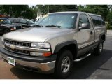 2000 Light Pewter Metallic Chevrolet Silverado 1500 LS Regular Cab 4x4 #32945424