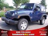 2010 Deep Water Blue Pearl Jeep Wrangler Sport 4x4 #32965830