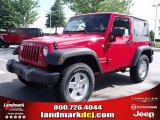 2010 Flame Red Jeep Wrangler Sport 4x4 #32965831