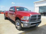 2010 Inferno Red Crystal Pearl Dodge Ram 3500 Big Horn Edition Crew Cab 4x4 Dually #32965839