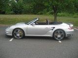 2008 Arctic Silver Metallic Porsche 911 Turbo Cabriolet #32966363