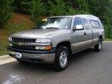 2001 Light Pewter Metallic Chevrolet Silverado 1500 LS Extended Cab 4x4 #32966367