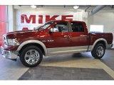 2010 Inferno Red Crystal Pearl Dodge Ram 1500 Laramie Crew Cab #32965948