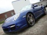 2008 Cobalt Blue Metallic Porsche 911 Turbo Cabriolet #32965479