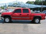 2004 Victory Red Chevrolet Silverado 1500 LS Crew Cab 4x4 #32966582