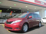 2011 Salsa Red Pearl Toyota Sienna LE #32966141