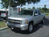 2010 Sheer Silver Metallic Chevrolet Silverado 1500 LT Crew Cab #32965693