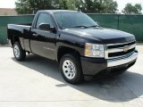 2008 Black Chevrolet Silverado 1500 Work Truck Regular Cab #33081363