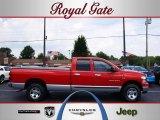 2007 Flame Red Dodge Ram 1500 SLT Quad Cab 4x4 #33080960