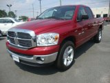 2008 Inferno Red Crystal Pearl Dodge Ram 1500 ST Quad Cab #33081273