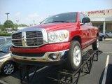 2007 Inferno Red Crystal Pearl Dodge Ram 1500 Big Horn Edition Quad Cab #33081274