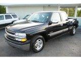 2001 Onyx Black Chevrolet Silverado 1500 LS Extended Cab #33081554
