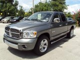 2008 Mineral Gray Metallic Dodge Ram 1500 Laramie Quad Cab #33081849