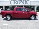 2010 Inferno Red Crystal Pearl Dodge Ram 1500 SLT Crew Cab #33081343