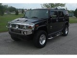 2003 Black Hummer H2 SUV #33146736