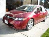 2007 Tango Red Pearl Honda Civic EX Sedan #3312005