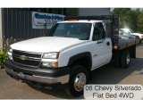 2006 Summit White Chevrolet Silverado 3500 Regular Cab 4x4 Chassis #33189203