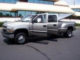 2002 Light Pewter Metallic Chevrolet Silverado 3500 LS Crew Cab 4x4 Dually #33189233